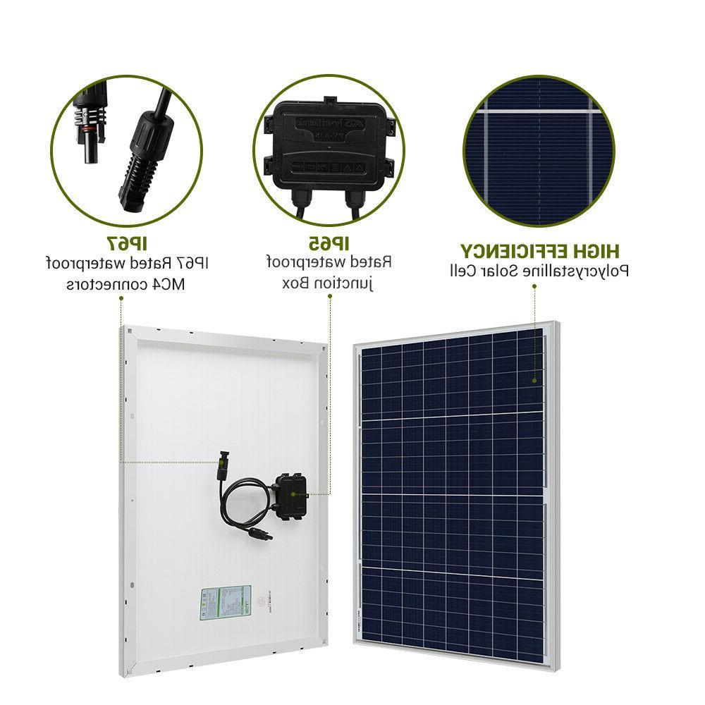 HQST Solar Panel 12 Off Grid Power RV Car Camping