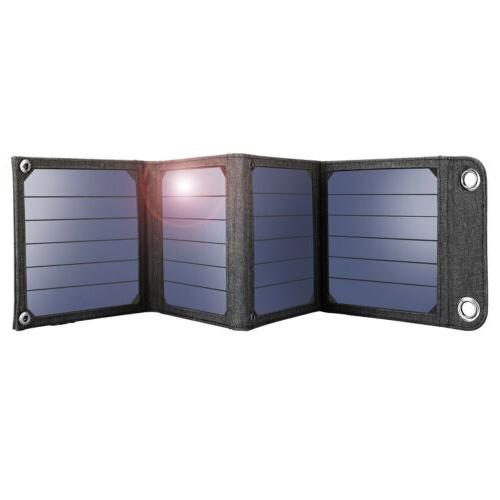 Suaoki 14W Folding Solar Panel USB Bank PC