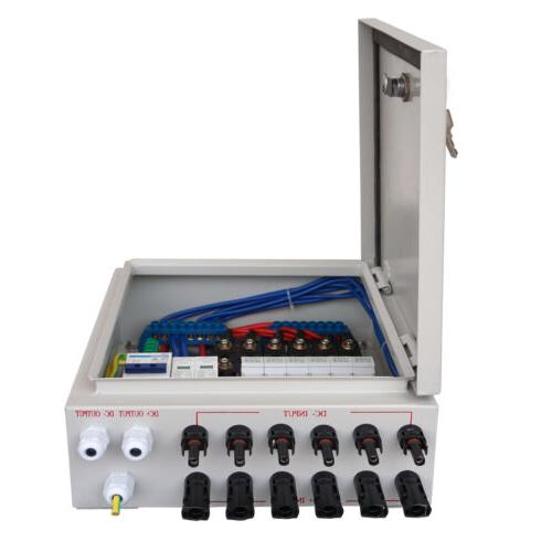 6 String Combiner Box Circuit Breaker & Surge Protection