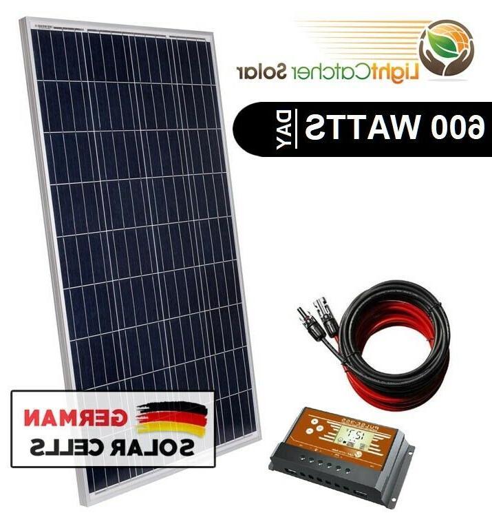 600w watt system for off grid battery