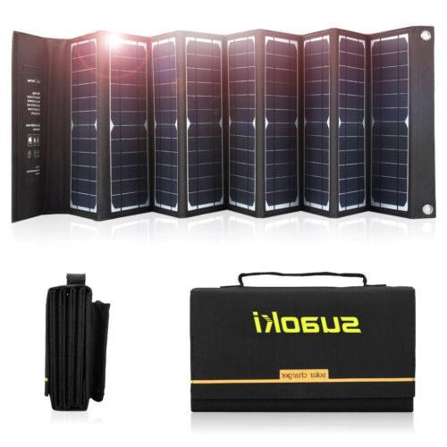 Suaoki TIR-C 60W Solar Power Panel Charger 2-Port Waterproof