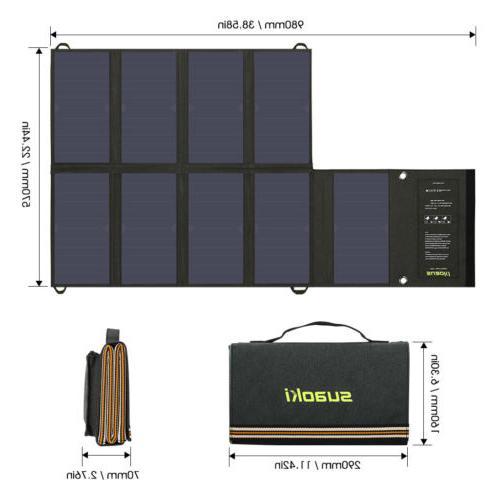 Suaoki 60W Panel Battery Foldable 2Port Bank