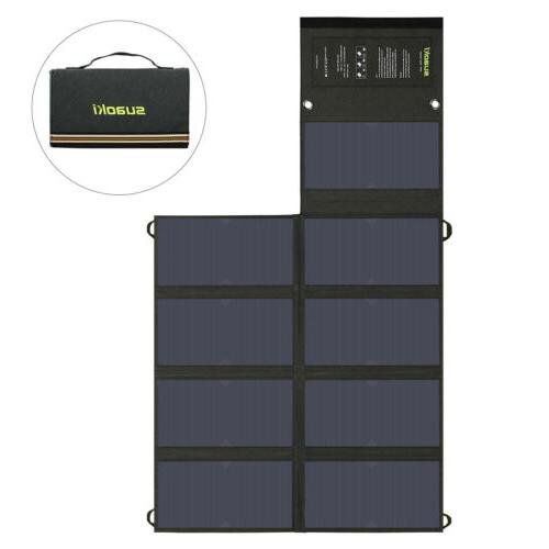 Suaoki 60W Solar Battery Charger DC USB Bank for