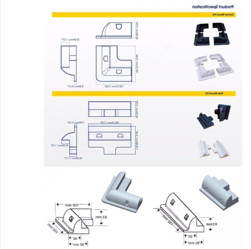 7-Piece Plastic Solar Panel Kit Block-Caravan