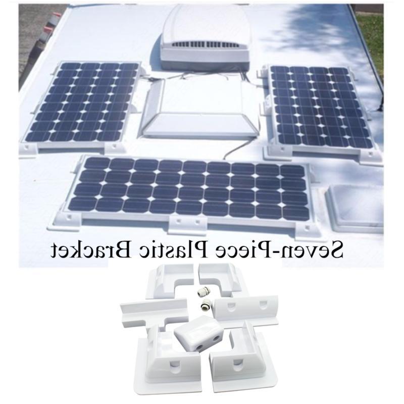 7 piece plastic solar bracket panel corner