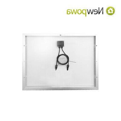 Newpowa 70 Solar Panel Battery Kit Marine