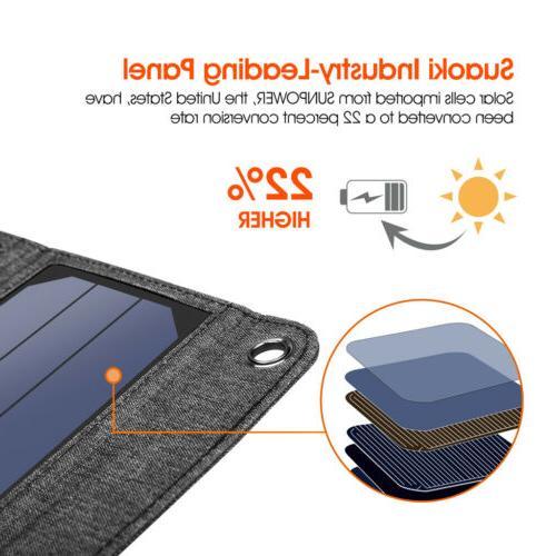 Suaoki Solar Charger Portable Smartphones / USB
