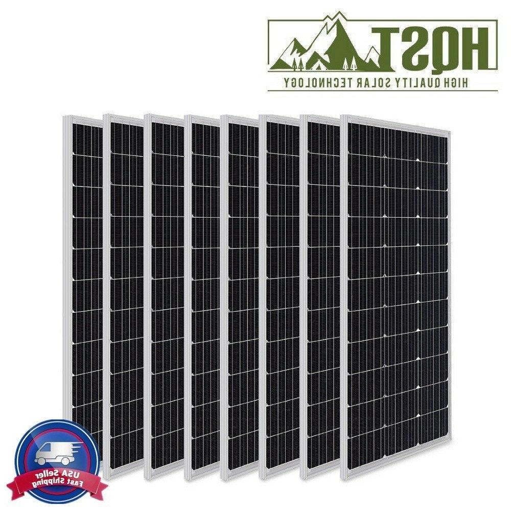 8 x 100w 12v mono solar panel