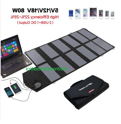 Allpowers 80W Foldable Solar Panel Portable Battery Charger