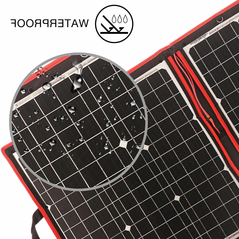 80W Flexible usb Portable Solar Kit