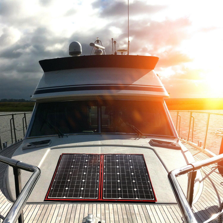80W Solar Panel 12V/18V Flexible usb Portable Solar Cell Kit
