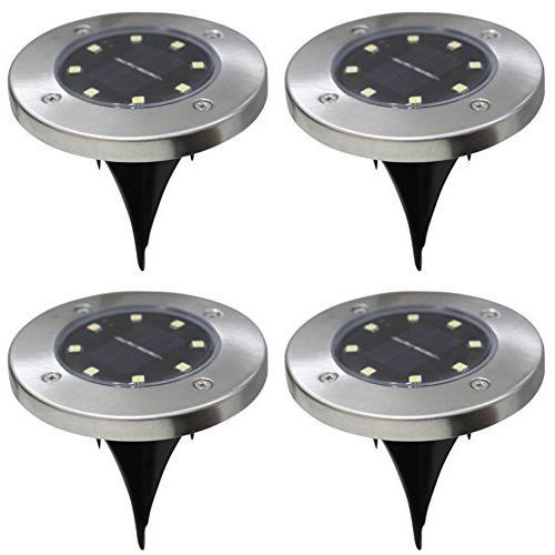 8led solar powered ground lights