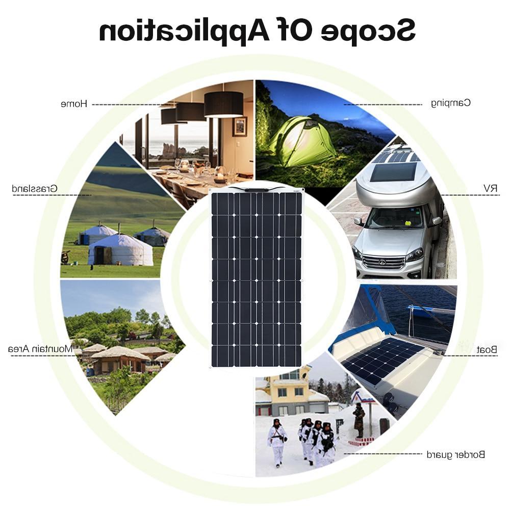 Boguang Flexible <font><b>100W</b></font> monocrystalline 12V 100 photovoltaique
