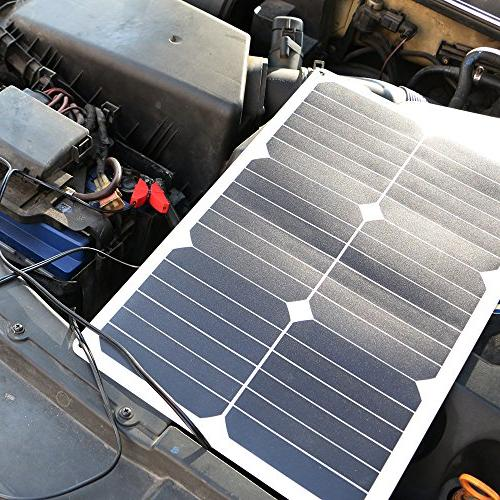 ALLPOWERS Battery 18V 12V 18W Solar Charger for Motorcycle Tractor