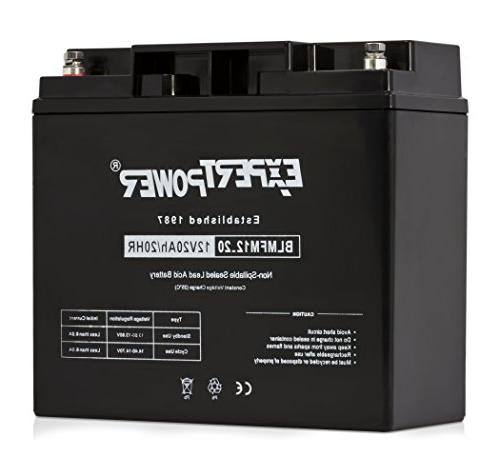 ExpertPower EXP12200 12 Volt 20 Ah Rechargeable Battery With