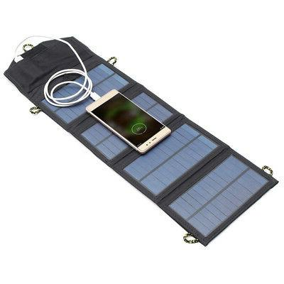 Foldable 7W USB Solar Charger For Outdoor