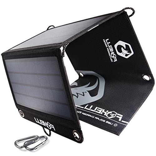 Foxelli USB Solar Charger 10W Solar for X, Android, S8, S7, S6, Edge More, Charger Outdoors