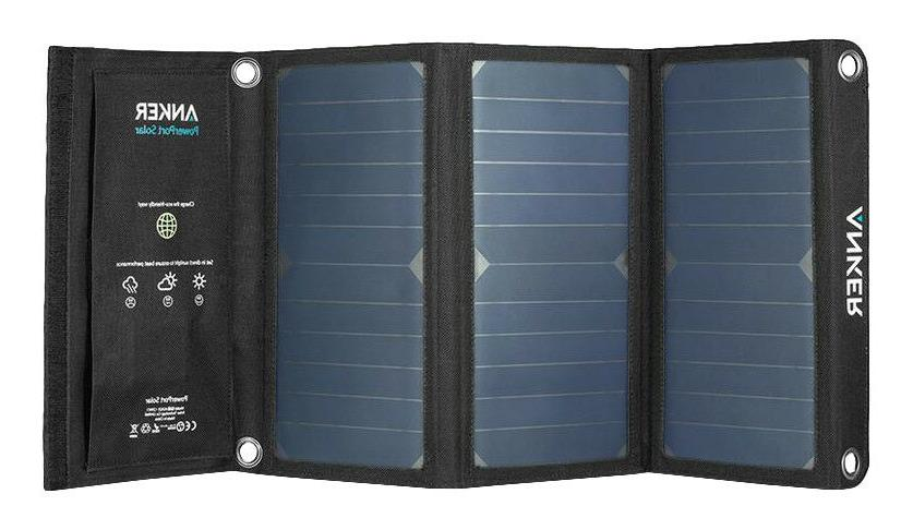 New) Anker 21W 2-Port USB Solar Charger PowerPort Solar for