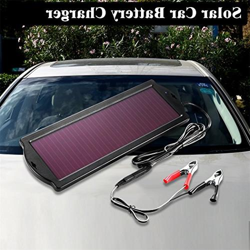 POWOXI Solar Car Battery Trickle 1.8W Waterproof Charging Plug Rv Motorcycle Boat Vehicle