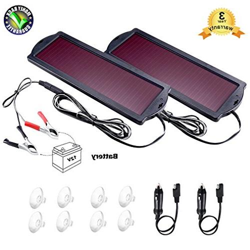 POWOXI Solar Car Battery Trickle Charger Panel 12v 1.8W Wate