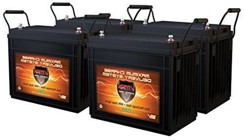 QTY 4 VMAX SLR155 Vmaxtanks AGM Deep Cycle 12V 155ah each Sl