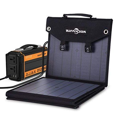 Rockpals 60W Solar Panel Charger Explorer 240 Zero Station and Devices, USB