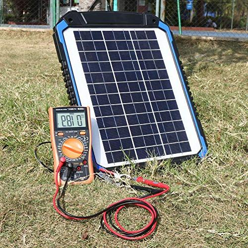 SUNER Solar Car Battery Charger Maintainer Solar Trickle Kit for Motorcycle, Boat, Marine, Trailer, Powersports,