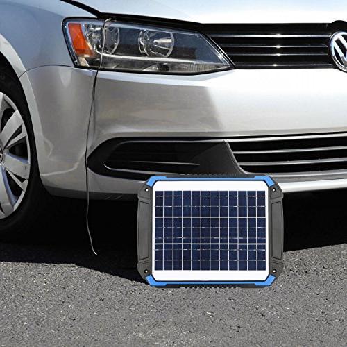 SUNER POWER Car Maintainer Portable Solar Panel Kit for Boat, Marine, RV, Powersports,