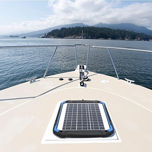 SUNER 12V Car Battery Maintainer Solar Panel Trickle Kit Boat, Powersports,