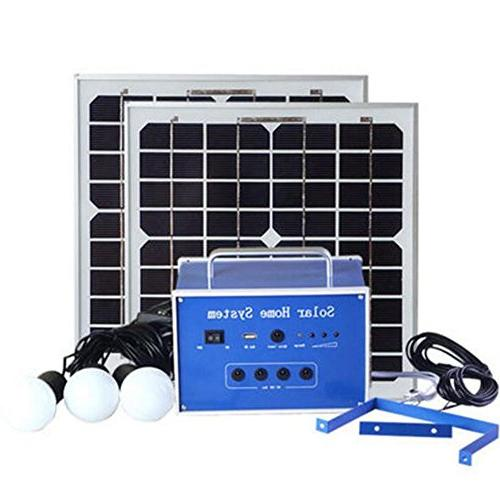 TOPCHANCES Solar Generator System,20W 12V Portable Outdoor S