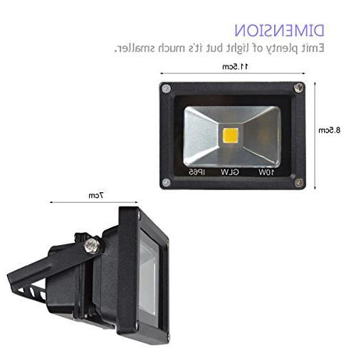 GLW 12v Ac or Dc White Led Light Waterproof Outdoor Lights Halogen Black Case