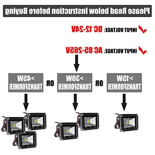 GLW 10w Ac or Dc Led Flood Outdoor Lights 750lm Halogen Case