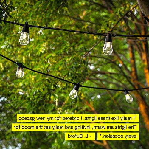 Brightech Ambience Waterproof LED String Lights 1W - 27 Heavy Duty Patio Create Cafe Ambience Porch