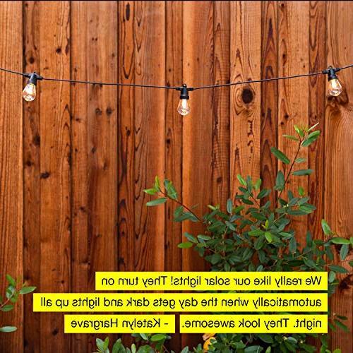 Brightech Waterproof LED String - 1W - 27 Duty Patio Lights Porch