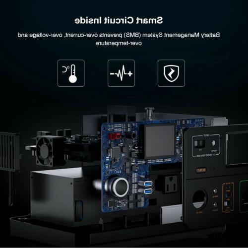 Portable 500Wh Power Supply Storage 600W