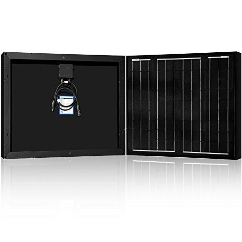 black mono solar panel