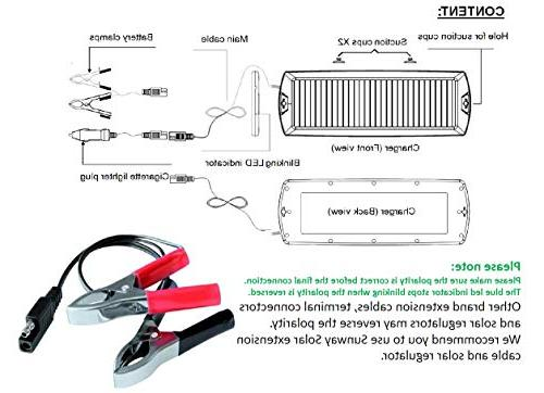 Sunway Car Charger Maintainer Solar Power Portable For Motorcycle Marine ATVs Snowmobile