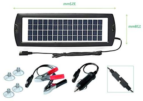 Charger 12V Battery Charger Panel Power Charger For Motorcycle Marine ATVs