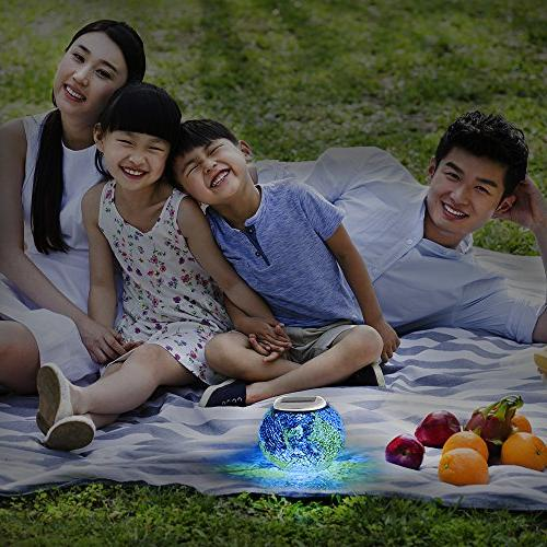 Pandawill Color Solar Powered Ball Garden Table Outdoor Waterproof Solar Night Table Lamps Gifts
