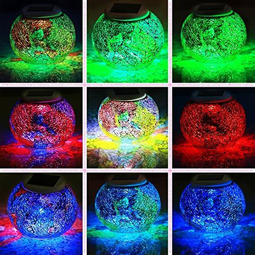 Pandawill Powered Ball Garden Lights, Solar Night Lamps for Decorations, Gifts