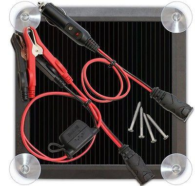 Solar Power Battery Maintainer Car Suction 12