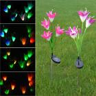 color changing led light fixtures lily flowers