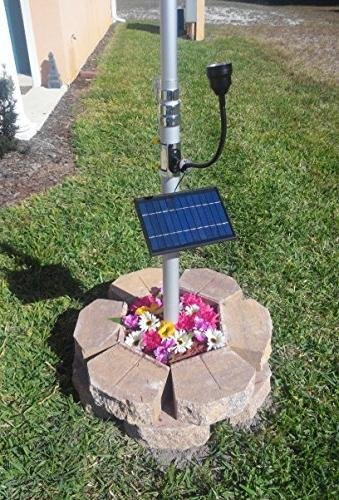 commercial solar flagpole light