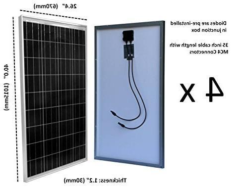 WindyNation Complete Watt Solar 1500 Watt Inverter RV, 12 Volt Battery