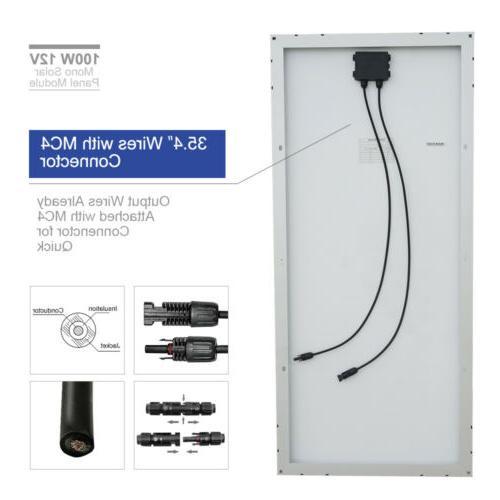 100W 200W 500W 600W 1KW Solar Panel System Home Battery