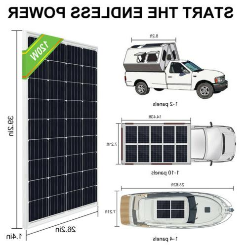 ECO 800W 600W 400W Kit Battery For RV Home