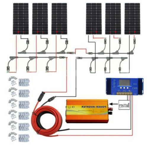 400W Off Grid Solar Panel & Pure Sine Inverter