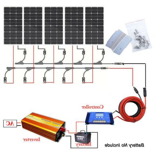 Off Kit Solar 1KW Pure Inverter Kit
