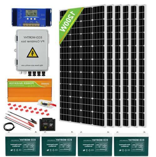 eco 100w watt solar panel kit