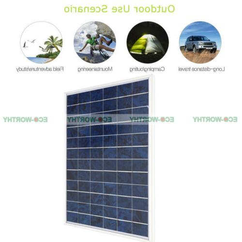 5W Watt Solar Panel Ploy Solar Module 12V Battery Charger fo